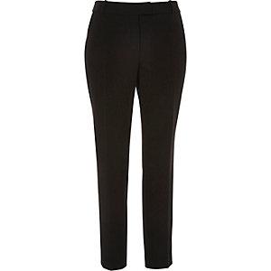 Black smart slim trousers
