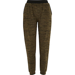 Khaki green neppy light joggers