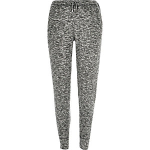 Grey marl slim joggers.