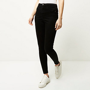 Black high rise Molly jeggings