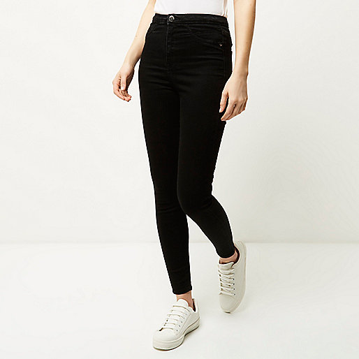 Black high rise going out jeggings