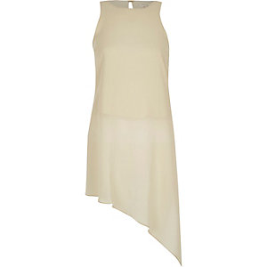 Gold asymmetric vest