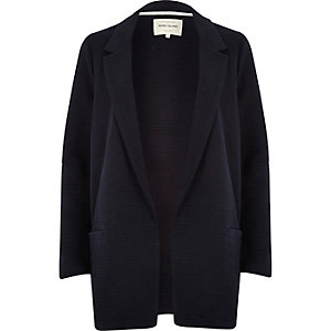 Navy textured ribbed jacket