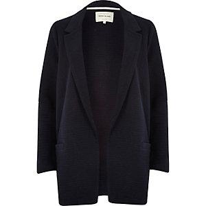 Navy textured ribbed jacket