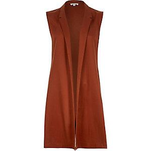 Rust brown sleeveless jacket