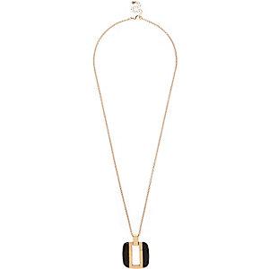 Black cut out pendant necklace