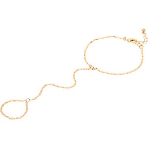Gold tone chain hand harness