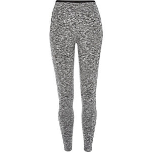 Grey marl high waisted leggings