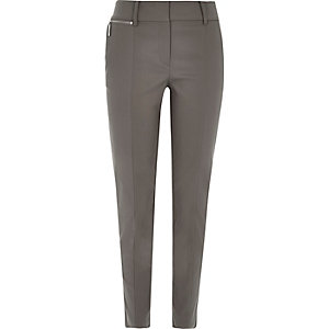 Grey slim trousers