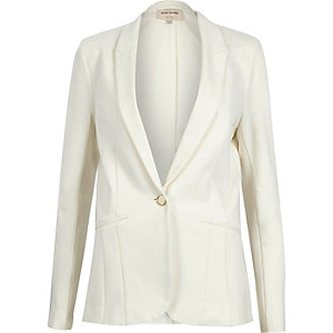 Cream tailored blazer