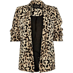 Brown leopard print jacket