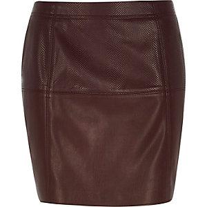 Red snake print pelmet skirt