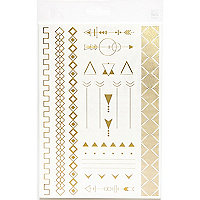 Gold arrow bracelet temporary tattoos