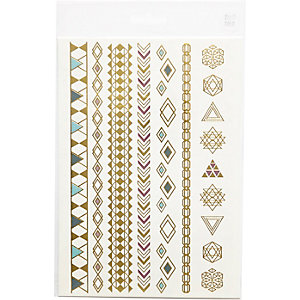 Metallic mixed temporary tattoo pack