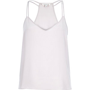 Light grey silk strappy cami