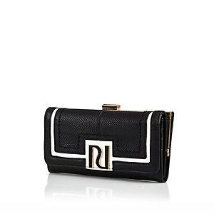 Black RI clip top purse