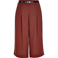 Brown smart short culottes