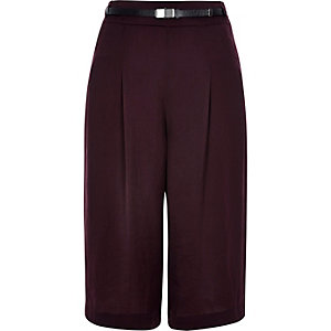 Purple smart short culottes