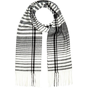 Black graduated stripe scarf