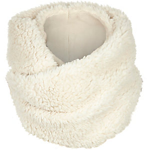Cream faux-fur snood