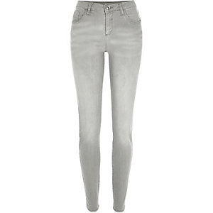 Grey Amelie superskinny jeans