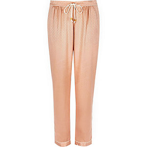 Pink jacquard pyjama trousers