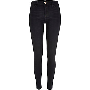 Dark blue wash coated Molly jeggings