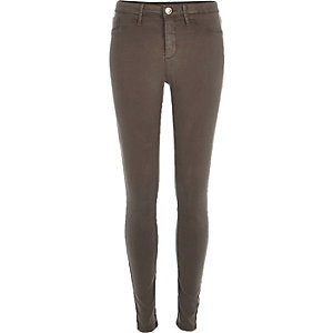 Grey sateen finish Molly jeggings
