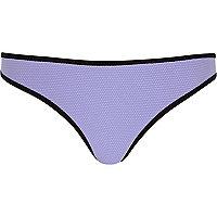 Purple textured bikini bottoms
