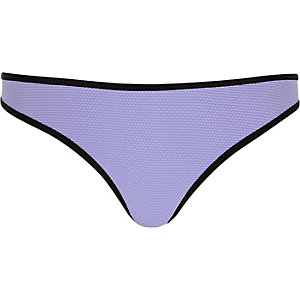 Purple textured bikini bottoms