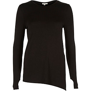 Black asymmetric fitted top