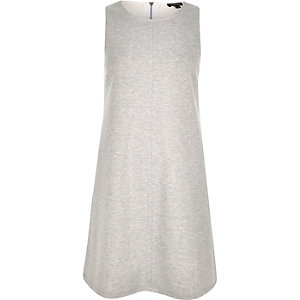 Grey marl sleeveless swing dress