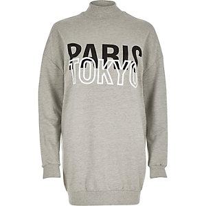 Grey Paris Tokyo oversized sweatshirt