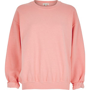Coral soft oversized sweatshirt