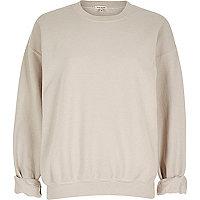 Light pink soft oversized sweatshirt