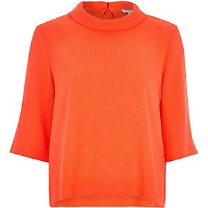 Orange high neck t-shirt
