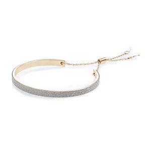 Gold tone glitter bracelet