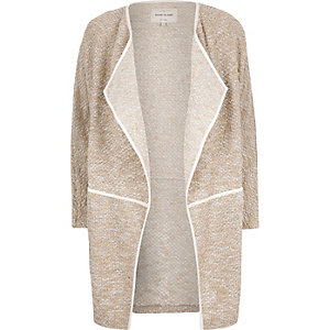 Beige draped jacket