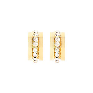 Gold tone diamante mini hoop earrings