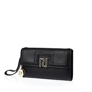 Black RI wristlet clutch bag