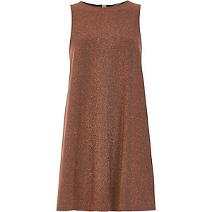 Rust brown sparkly swing dress