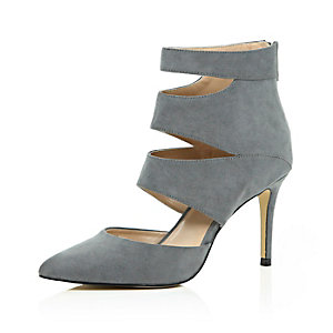 Grey cut out heels