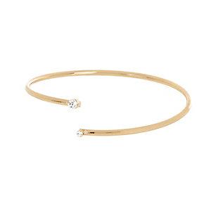 Gold tone open diamante arm cuff