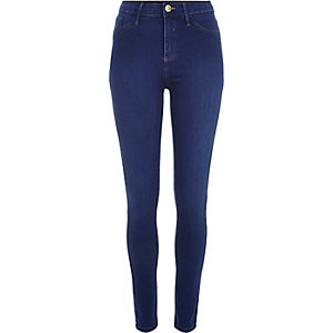 Bright blue wash Molly jeggings