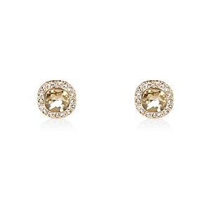 Gold tone sparkle stud earrings