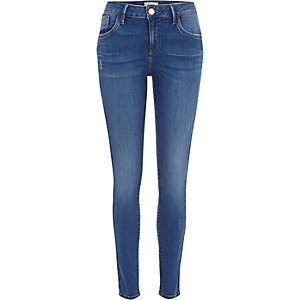 Bright blue wash Amelie superskinny jeans