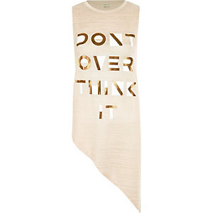 Beige don't over think it tank top