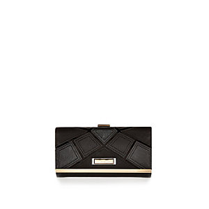 Black patchwork purse