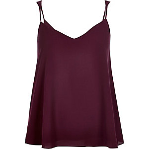 Dark purple V-neck cami