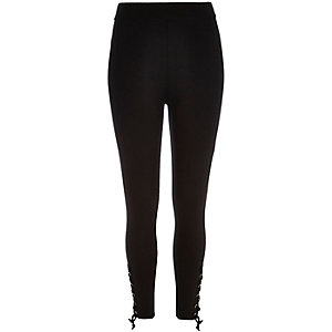 Black high waisted eyelet leggings